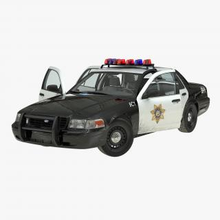 Ford Crown Victoria Police Car Rigged 3D