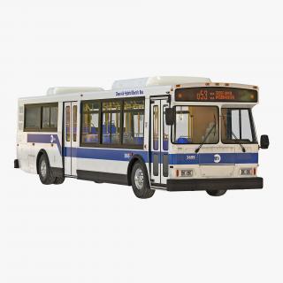 3D model MTA New York City Bus Q53