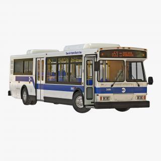 MTA New York City Bus Q53 Rigged 3D