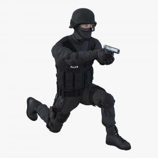 SWAT Man Mediterranean Rigged 3D model