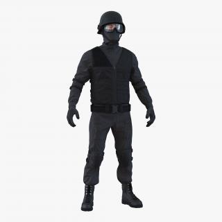 3D SWAT Man Mediterranean Rigged 2