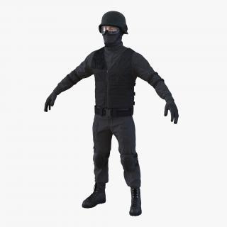 SWAT Man Mediterranean 2 3D model