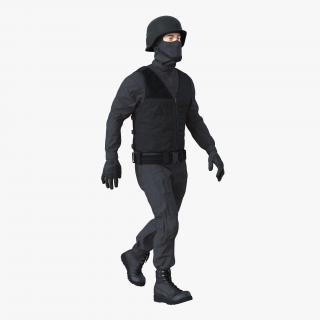 3D SWAT Man Mediterranean Rigged 3