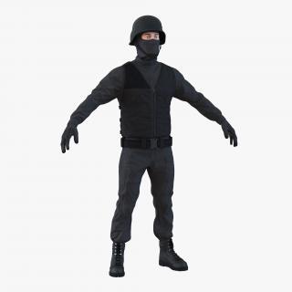 SWAT Man Mediterranean 3 3D model
