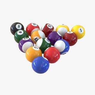 Billiard Balls 3D model