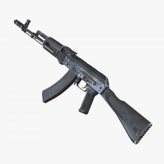 3D model Assault Rifle AK 74M