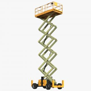 Engine Powered Scissor Lift Generic 3 Rigged 3D model