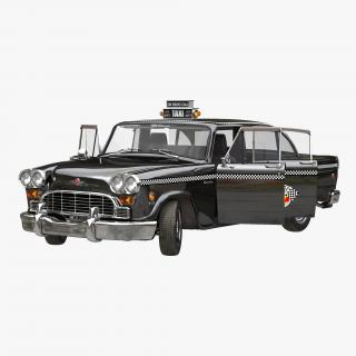 3D Checker Cab Rigged model