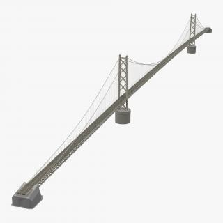 Akashi Kaiky Bridge 3D model