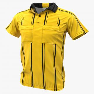 Yellow Referees Jersey 3D