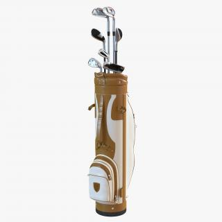 3D model Golf Bag and Clubs 3