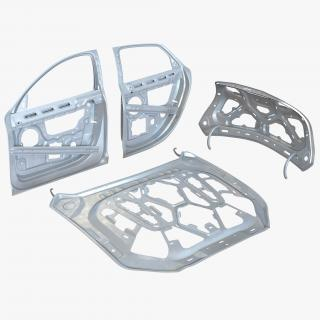 3D Car Frames Collection