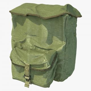 3D Army Backpack model
