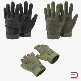 3D Military Gloves Collection