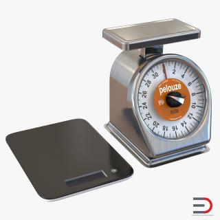Kitchen Scale Collection 3D model