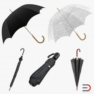 Umbrellas Collection 2 3D
