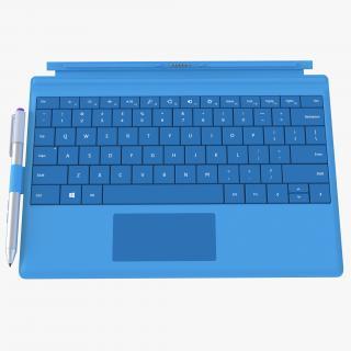 3D Microsoft Surface 3 Keyboard model