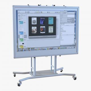 3D model Interactive Whiteboard Mobile Stand