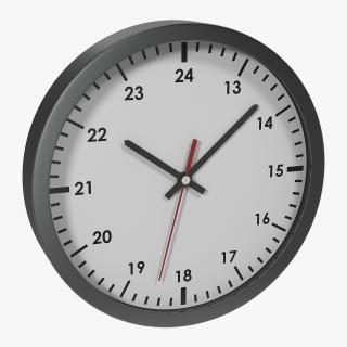 3D Office Clock White model