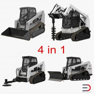 Compact Tracked Loaders Collection 3D model