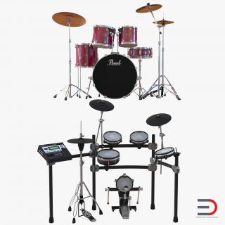3D model Drum Kits Collection