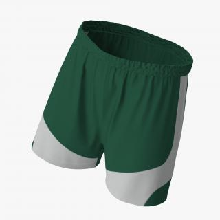 Soccer Shorts Green 3D model