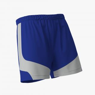 3D Soccer Shorts Blue model