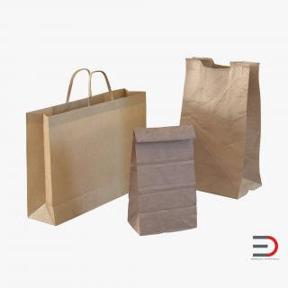 3D Paper Bags Collection