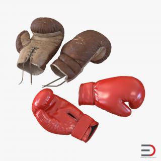 Boxing Gloves 3D Models Collection 3D model