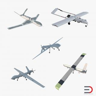 UAV Collection 3D model
