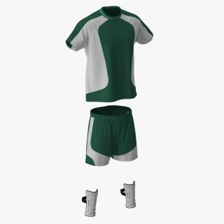 Soccer Uniform Green 2 3D