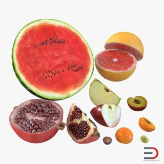 3D Cross Section Fruits Collection 2 3D Models model
