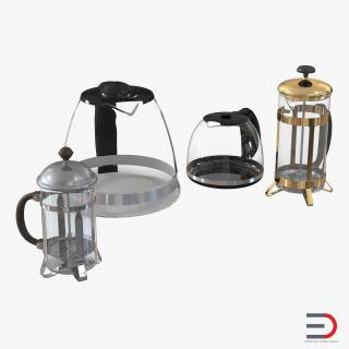 Coffee Pots Collection 3D