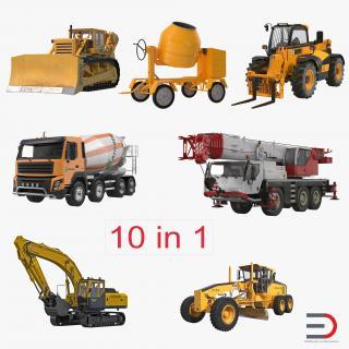 Construction Vehicles Collection 2 3D Models 3D model