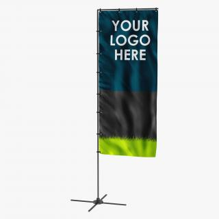 Banner Stand 5 Generic 3D
