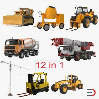 Construction Vehicles Collection 3D