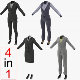 Women Suits 3D Models Collection 2 3D model