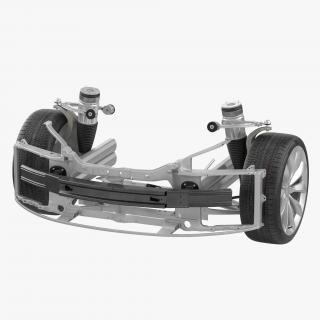 3D model Tesla Model S Front Suspension