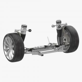 Tesla Model S Front Suspension 2 3D