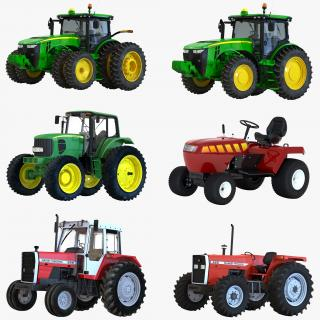 3D Tractors Collection 2