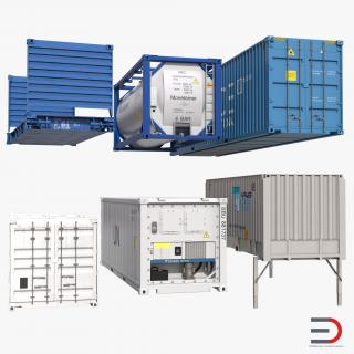 3D Containers Collection 2 model