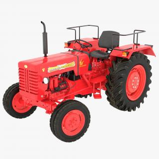 3D model Tractor Mahindra 395 DI Rigged