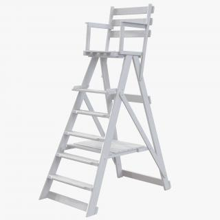 3D Classic Umpire Chair White