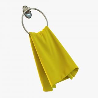 3D Hanging Bathroom Towel 2 Yellow