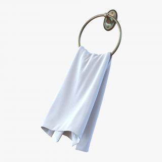 Hanging Bathroom Towel 2 3D model