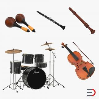 3D model Musical Instruments Collection