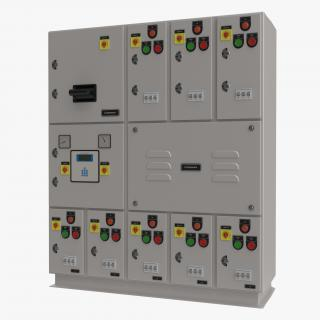 Industrial Electrical Panel 2 3D model
