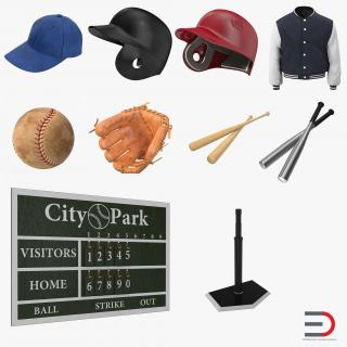3D Baseball Collection 5