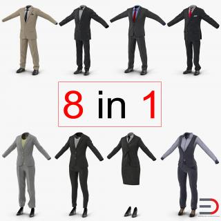 Workwear Suits Collection 2 3D