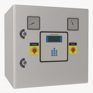 Industrial Electrical Panel 5 3D model
